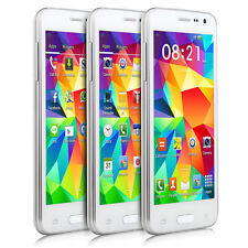 """NEW Unlocked 4.5"""" Dual Sim Dual Core WIFI Android 4.4 Cheap GSM Smartphone White"""