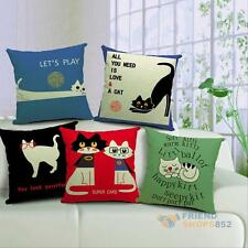 Cute Cat Pattern Throw Pillow Case Cushion Cover Christmas Home Decor Gift #F8s