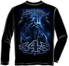 343 Fallen Brothers 9/11 Memorial Firefighter Long Sleeved T-Shirt