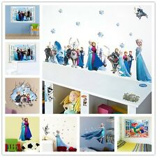 1X Wall Sticker Frozen Snow Queen Elsa Wall Decals Removable Decor Mural Mermaid