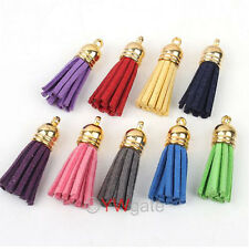 Lots Mixed Leather Tassel Charms Handmade Straps Pendants Jewelry Cell phone