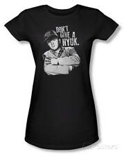 Juniors: The Three Stooges - Give A Nyuk T-Shirt Black