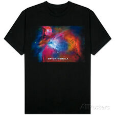 Orion Nebula Text Space Photo T-Shirt Black