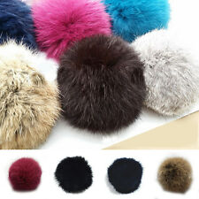 Lovely Women Rabbit Fur Ball DIY Key Chain/Headwear/Cellphone Keyrings Pendant