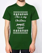 This Is My Christmas Jumper T Shirt Top Funny T Shirt Joke Gift Festive Novelty
