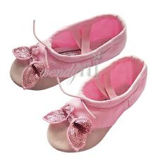 Girls Kid Canvas Butterfly Ballet Slippers Dance Gymnastics Soft Xmas Gift Shoes