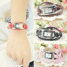 2014 Fashion Women Retro Quartz Sennit Bracelet Charm Analog Wrist Watch DZ88