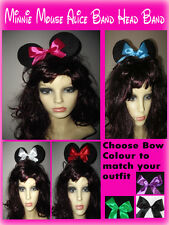 Minnie Mouse Alice Band Headband - Minnie Mouse Ears with Bow - Fancy Dress Hair