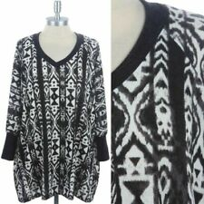 Loose Fit Dolman Long Sleeve V-Neck Warm Tunic Sweater Comfortable Casual S M L