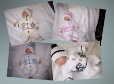 KNITTED DOG PRAM SUIT REBORN 20in BABY 0 - 3 MNTHS