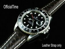 OT Genuine Buffalo Leather Strap Band fit Rolex Explorer II Submariner Datejust