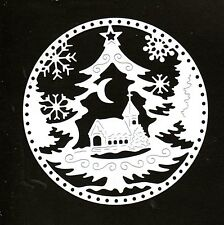 NEW TATTERED LACE SILHOUETTE CHRISTMAS TREE SNOWGLOBE DIE CUTS- BLACK OR WHITE