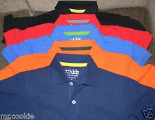 77Kids by AE Polo Shirt S/S 8 10 12 Black Orange Red American Eagle