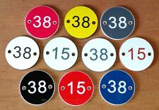 Door Number Plaques scew or glue on - acrylic discs many colours