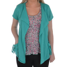 Per Una Womens Ladies 2 in 1 Open Front Cardigan Floral Print Vest Top