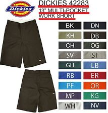 "NWT 42283 13"" SIZE INCH DICKIES WORK SHORTS ALL COLORS WITH CELL PHONE POCKET"