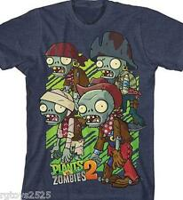 Plants vs Zombies 2 t-shirt 6 7 8 10 12 S M L New Childs tee  4 zombies