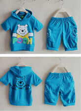 Winnie the Pooh sportswear suit sweater kid clothes outfits pant sets A024