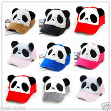 Fashion Women Cute Bear Panda Animal Winter Ski Trucker Baseball Sports Cap Hats