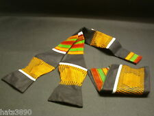 Self Tie Bow Tie African Kente cloth design black,green,maroon,orange,white,red.