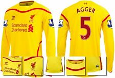 *14 / 15 - WARRIOR ; LIVERPOOL AWAY SHIRT LS + PATCHES / AGGER 5 = SIZE*
