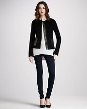 NWT VINCE Wool & Leather Jacket in Black Retail: $495