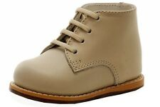 Josmo Infant Boy's First Walker Fashion Beige Leather Lace Up Oxford Shoes
