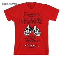 Official T Shirt PARAMORE Red Head Banging Skulls Friends All Sizes