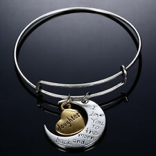 """UNIQUE Family""""I LOVE YOU TO THE MOON AND BACK """"Braclet Pendant Fortune Celebrity"""