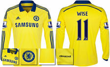 *14 / 15 - ADIDAS ; CHELSEA AWAY SHIRT LS + PATCHES / WISE 11 = SIZE*