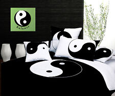 100% Cotton - YINYANG Quilt Cover Set - QUEEN KING Eurocases Cushion