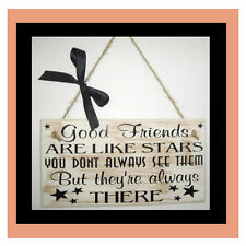 "Friendship Wand Tafel - Shabby Chic Schild - Bester Freund - 8"" X 4"" -"