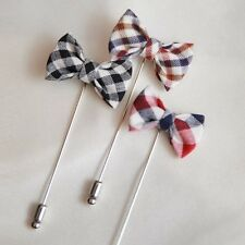 Mens Boutonniere/Wedding party boutonniere accessory/check boutonniere