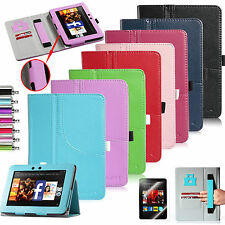 """Folio Flip PU Leather Case Stand Smart Cover for Amazon Kindle Fire HD 7"""" 2012"""