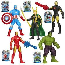 AVENGERS ALL STAR ACTION FIGURE: Hulk, Iron Man, Capitan America, Loki Nuovi