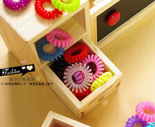 10pcs Elastic Telephone line hair ring Hair Tie Rope Ponytail Holder Colorful