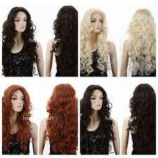 Women Sexy Curly Wavy Hair Hallow Long Blonde/Brown/Brown Party Cosplay Wigs