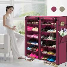 Shoe Rack Shelf Storage Closet Organizer Cabinet Portable 6 Layer 12 G w / Cover