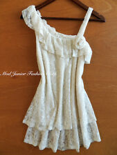 Slouchy Ivory Bohemian Boho Chic Trendy Clothing Gypsy Lace Blouse/Tunic/Top