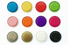 "100 1"" Flat Linerless Double Sided Painted Linerless Colors Bottle Caps Stickers"