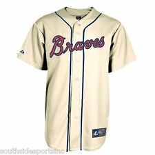 ATLANTA BRAVES IVORY YOUTH THROWBACK JERSEY NEW MAJESTIC W TAGS PICK SIZE