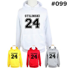 Stiles Stilinski No.24 Teen Wolf Lacrosse Pattern Hoodie Mens Womens Sweatshirt