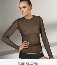 Wolford  TULLE PULLOVER, S + M + L, black, NEU+OVP
