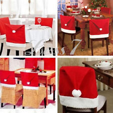 Santa Claus Chair Seat Cover Mat Set Christmas Decoration Home Party Gift Protec
