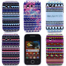 Triangle Stripe Wave Image Hard Back Shell Case Cover for Samsung Galaxy Y S5360