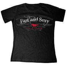 Mustang Ladies Fast and Sexy Black Tee