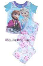 Disney Frozen ELSA ANNA Pajama PJ's Sleepwear Shirt/Pants Set 2pc For Girls-NEW