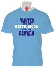 KEITH MOON T SHIRT WANTED THE WHO LOON MODS DALTREY TOWNSEND MY GENERATION VESPA