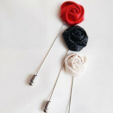 Mens Boutonniere/Wedding party boutonniere accessory/rose boutonniere collection