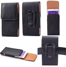 Vertical Cell Phone Protective Case Belt Waist Bag Pouch Leather Cover Shell #2